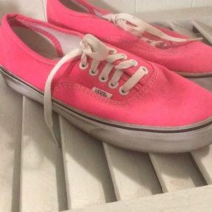 Hot pink Vans, size 8